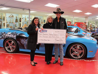 Petty Family Foundation Presents Check to Foundation Fighting Blindness