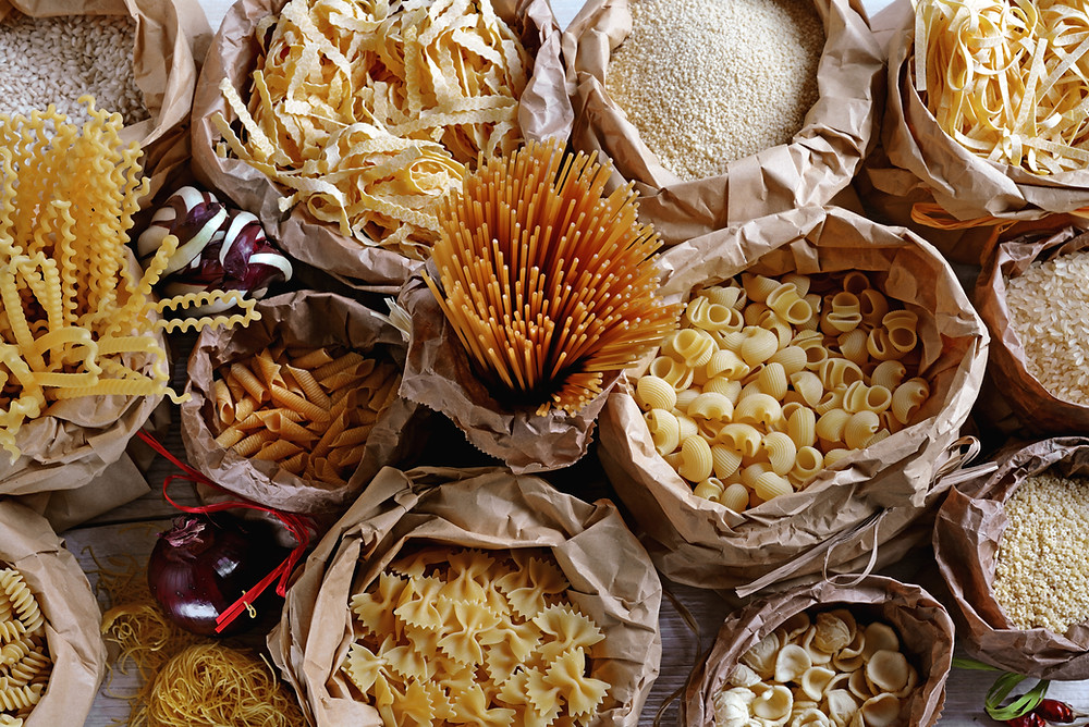 A plethora of different types of pasta