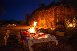 Perfect weather for a bush dinner