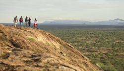 Trekking in Samburu on foot