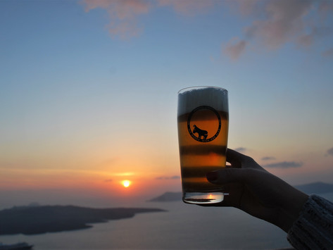 Searching For Beer in Santorini