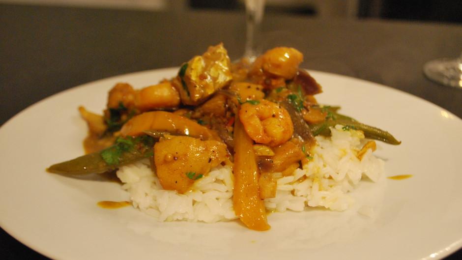 Duvel Cod & Prawn Curry
