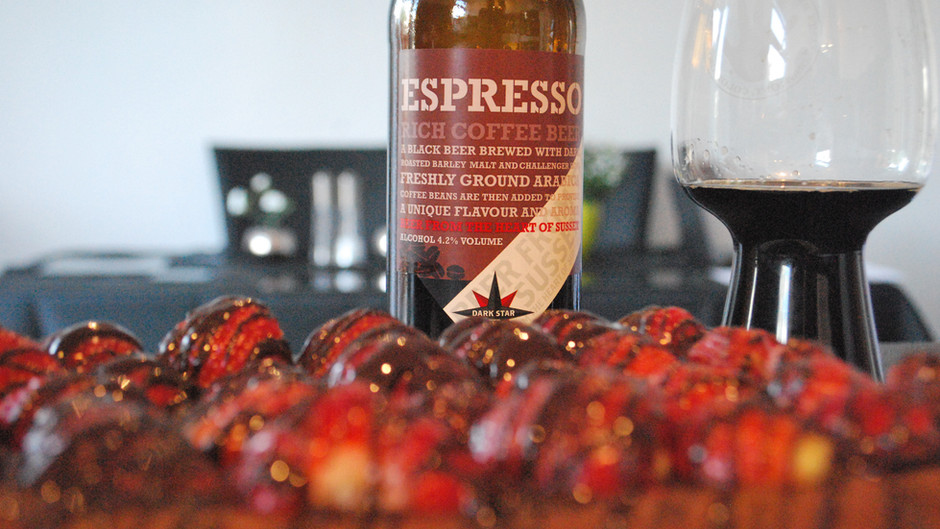 Dark Star Brewing Co Espresso Chocolate & Strawberry Brownies