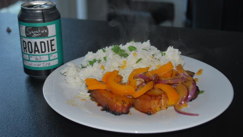 Mango & Kiwi Roadie Pork Belly Strips