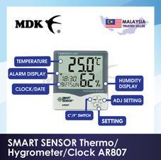 SMART SENSOR Thermo/Hygrometer/Clock AR807