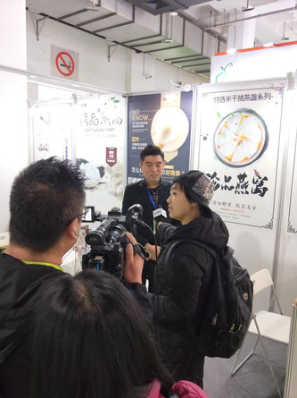 China television reporting our exhibition onboard