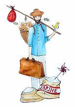 mathieu colporteur boulanger animation contée autour du pain d'ici oud'ailleurs. Pour ls écoles, les maisns de retraite, les ehpad, les collèges, les centres de loisirs