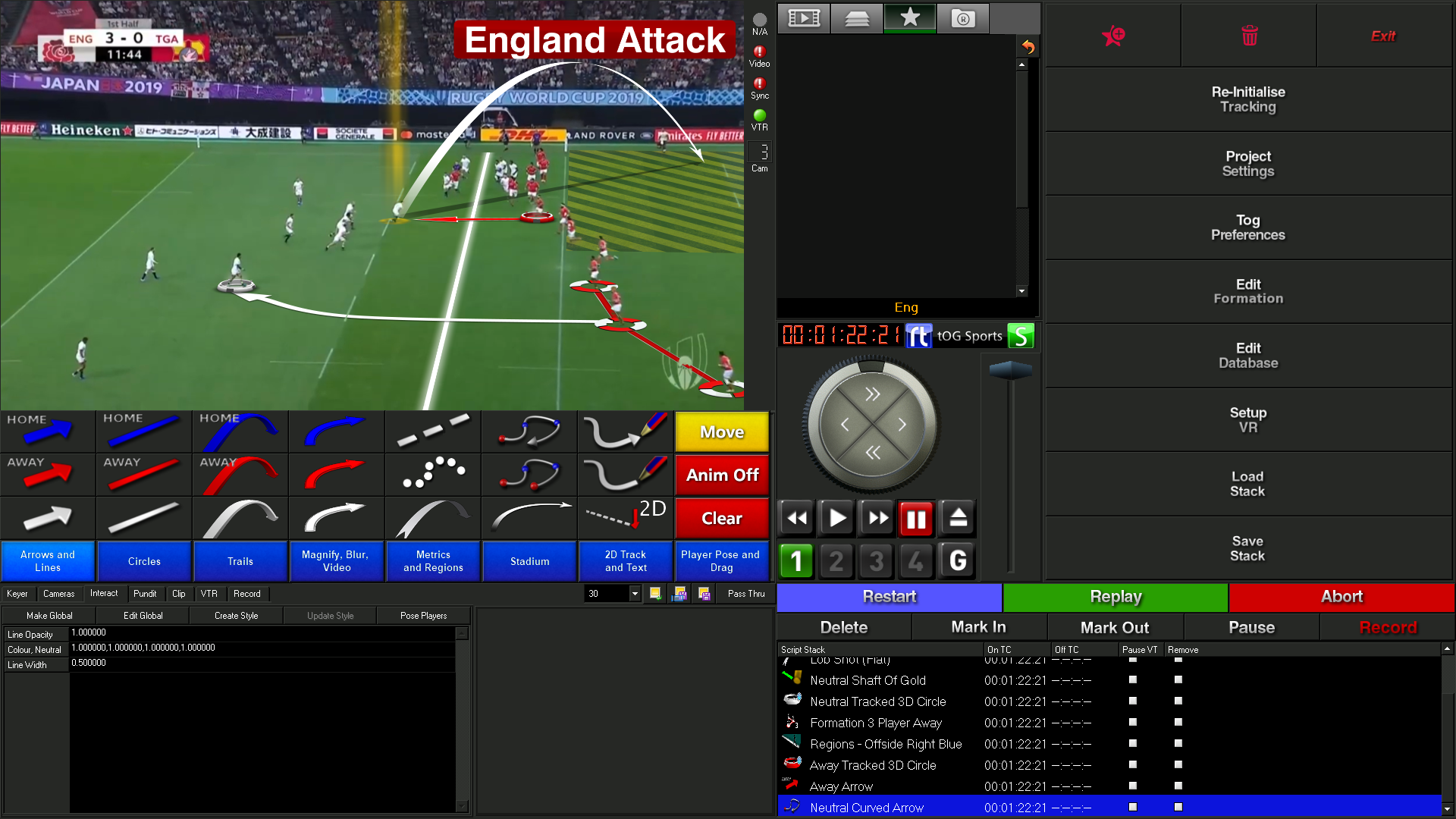 Tog Interface - Sport Video Analysis