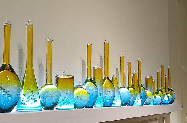 Louis Thompson Glass Bottle Installation