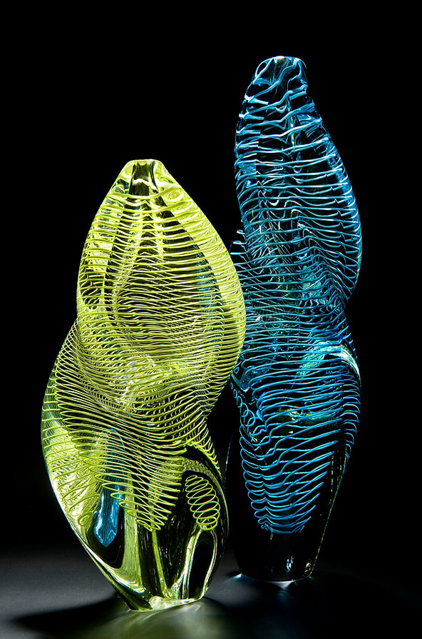 Louis Thompson Glass DNA Helix Lime and