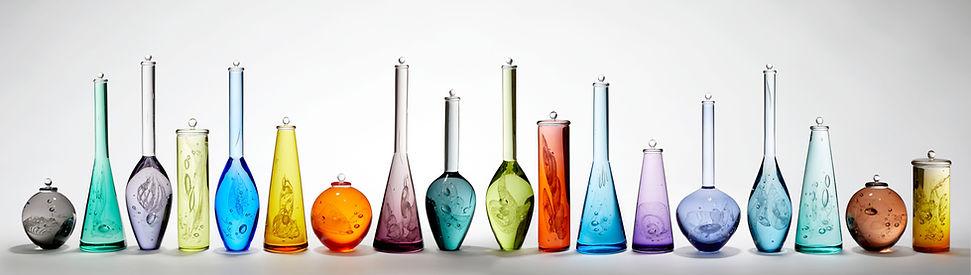 Louis Thompson Glass Bottles 18 Piece In