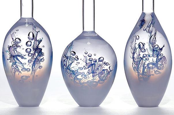 Louis Thompson Glass Bottles Dancing Gen