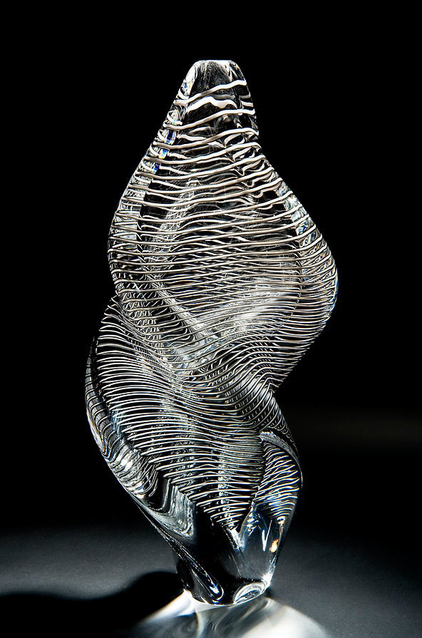 Louis Thompson Glass DNA Helix Grey Vess