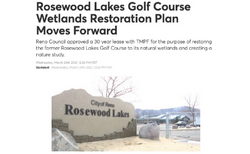 Rosewood Lakes Golf Course Wetlands Restoration Plan Moves Forward