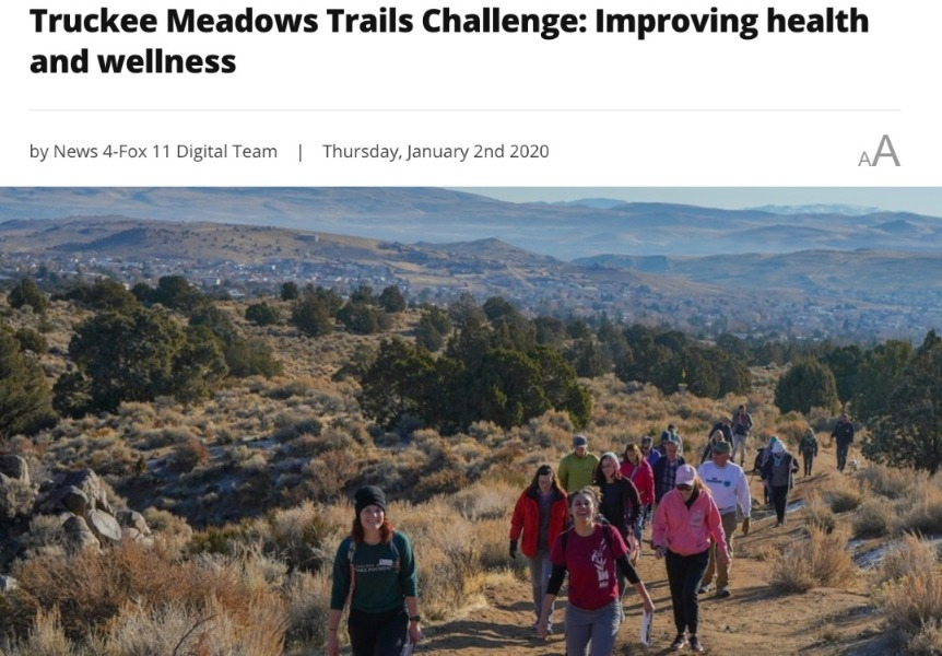 Truckee Meadows Trails Challenge, Improving health and wellness