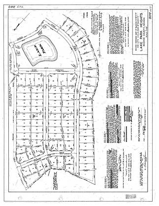 Lake Park Plot Map