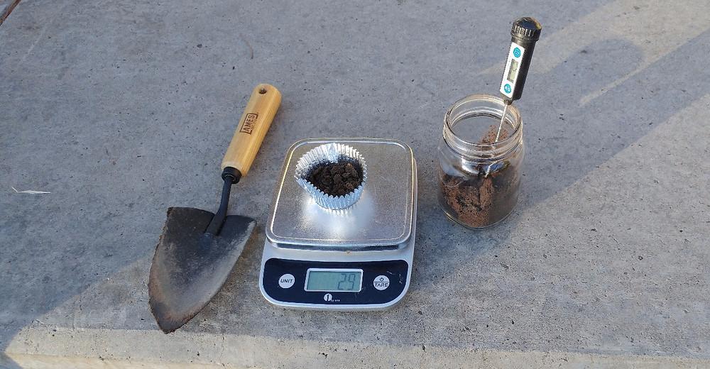 Measuring Soil Samples