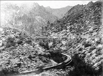 Flumes in Washoe Valley