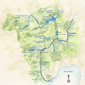 Herramienta de mapa de cuencas hidrográficas del río Truckee