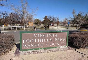 Virginia Foothills Park Main Sign
