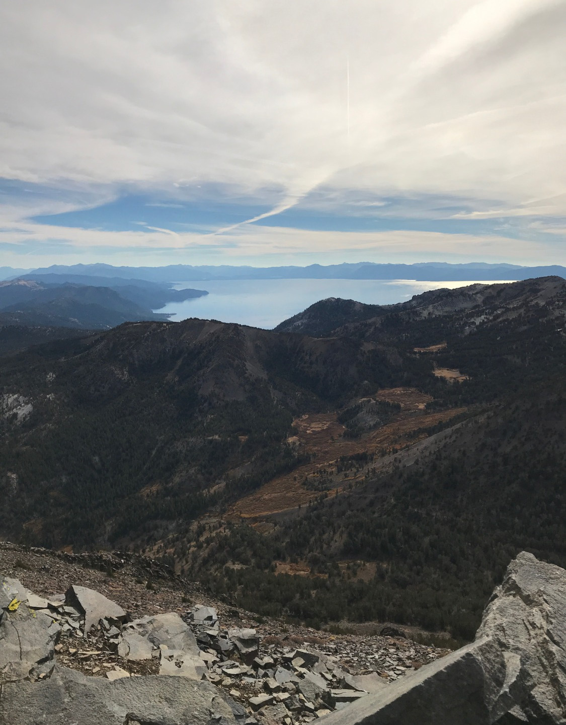 The view from Mt.Rose Summit.
