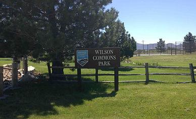 wilson commons park main sign