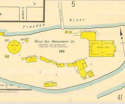 Belle Isle Map 1918