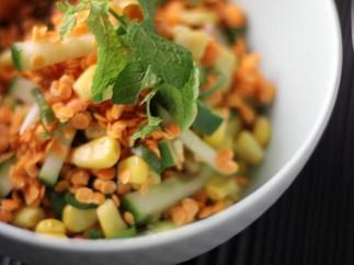 Recette : Salade de lentilles Corail