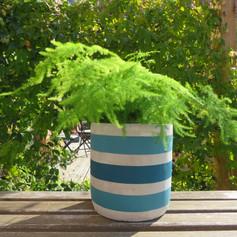 Stripe Pot Medium