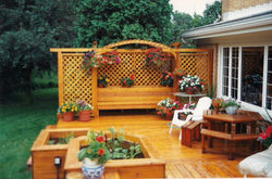 Privacy Bench Deck &  Water Planters