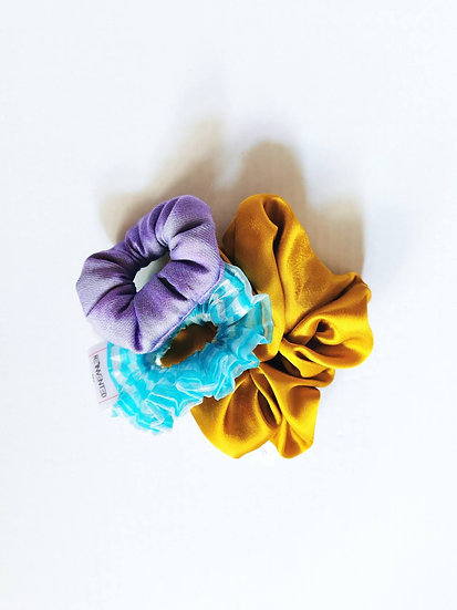 Exclusive No More Bad Hair Days scrunchies - 3 pack