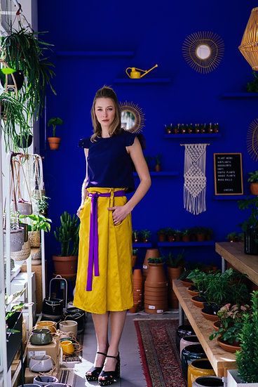 PROTEA SKIRT - Yellow with purple