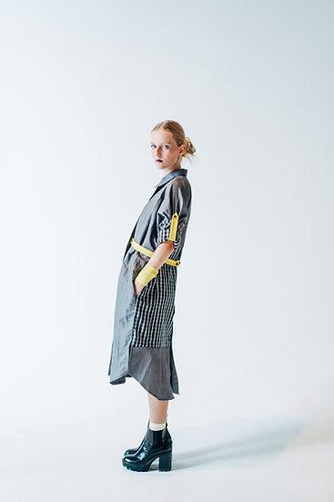 DUSK DRESS midi - Grey with grey
