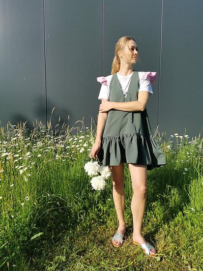 PEONY MINI DRESS - Military green