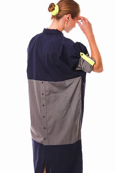DUSK DRESS - Blue with gray