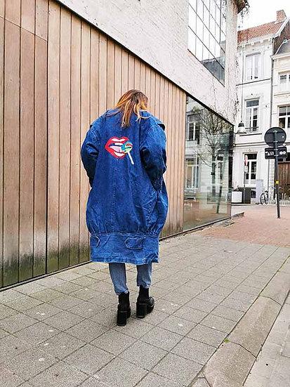 Customized jeans coat - Unique item