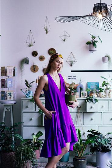 PEONY DRESS - Purple
