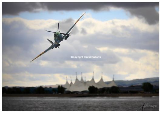 Spitfire over Minehead