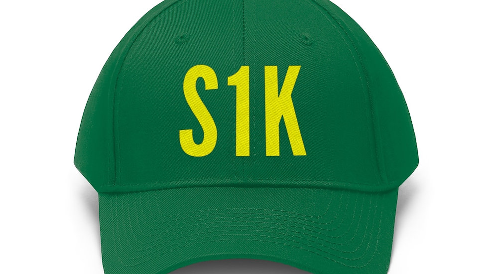 S1K Dad Hat Yellow Print