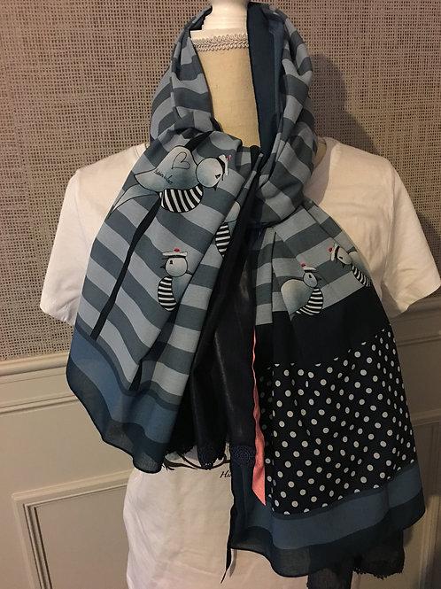 foulard double et rubans