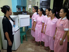 5 New Maids being introduced touse of household equiptment