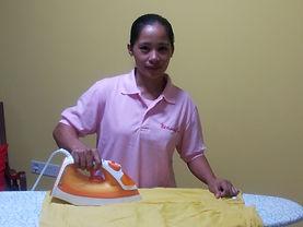 Myanmar Maid Ironing