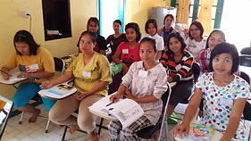 New Myanmar Maids In Classrrom Leaning Situational Training in Batam, Indonesia