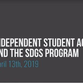 Student activism and SDG's