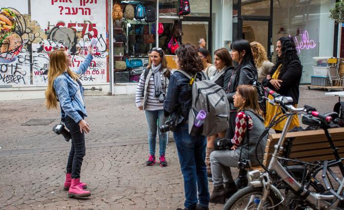 סדנת צילומי רחוב לקבוצת צלמות מתחילות