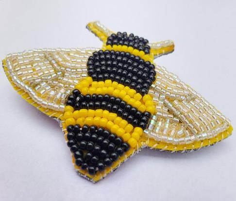 Beaded Bee Pin