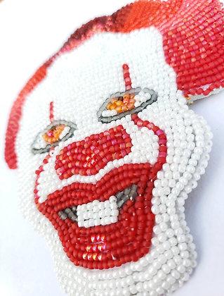Beaded Clown Hair Clip