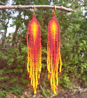 Beaded Earrings #14