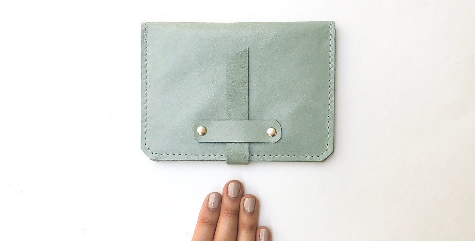 Wholesale | The Voyager - Passport Wallet - Pale Robin's Egg