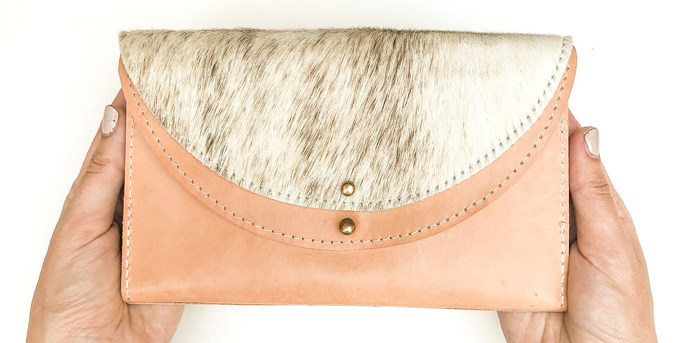 The Luna - Natural & hair on cowhide